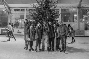 Pista de patinaje sobre hielo en Oviedo
